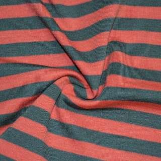 Трикотаж червоний в сірі смужки ш.172 оптом