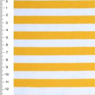 Трикотаж білий в жовті смужки ш.174 оптом
