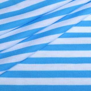 Трикотаж білий в блакитні смужки (світліше) ш.180 оптом
