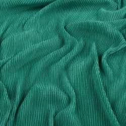 Трикотаж гофре зеленый ш.160 (продается в натянутом виде) оптом