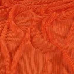 Трикотаж гофре оранжевый темный ш.160 (продается в натянутом виде) оптом