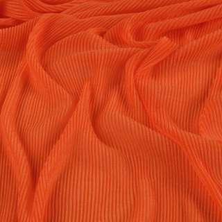 Трикотаж гофре темно оранжевый ш.160 (продается в натян. виде) оптом