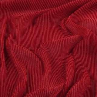 Трикотаж гофре красный ш.160 (продается в натян. виде) оптом