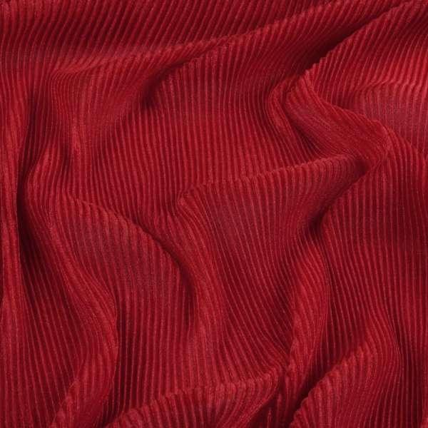Трикотаж гофре красный ш.160 (продается в натянутом виде) оптом