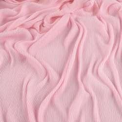 Трикотаж гофре розовый бледный ш.160 (продается в натянутом виде) оптом