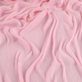 Трикотаж гофре бл.розовый ш.160 (продается в натян. виде) оптом