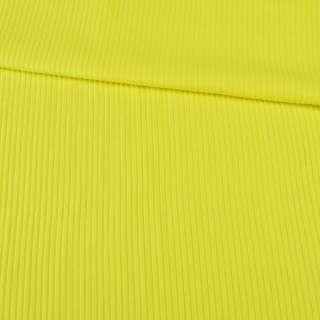 Трикотаж резинка лимонный, ш.150 оптом
