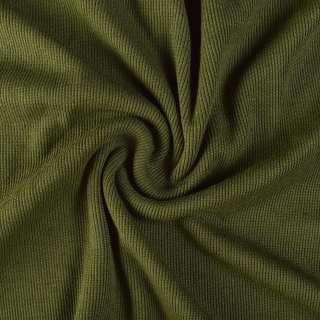 Резинка манжетная (рукав) зеленая оливковая темная (хаки) ш.110 оптом