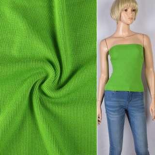 Резинка манжетная (рукав) зеленая лайм ш.110 оптом
