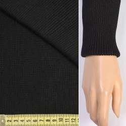 Трикотажное полотно резинка (манжет) черная ш.75 оптом