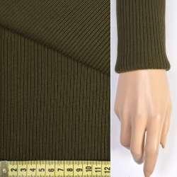 Трикотажное полотно резинка болотная ш.70 оптом