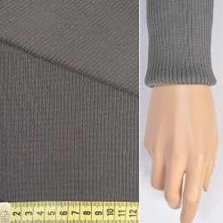 Трикотажное полотно резинка (манжет) серая ш.70 оптом
