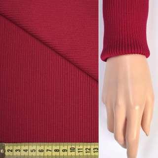 Трикотажное полотно резинка красная ш.70 оптом