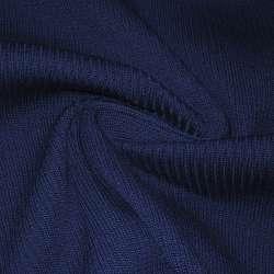 Трикотажное полотно резинка (манжет) синее ш.70 оптом