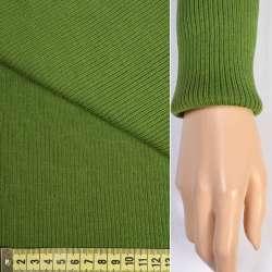 Трикотажное полотно резинка (манжет) зеленая ш.80 оптом