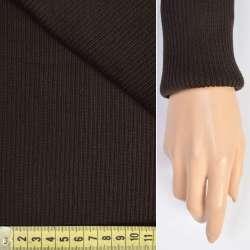 Трикотажное полотно резинка (манжет) черно-коричневая ш.80 оптом