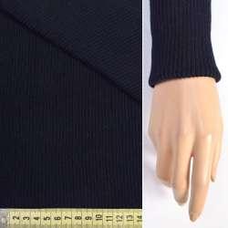 Трикотажное полотно резинка (манжет) черно-синяя ш.80 оптом
