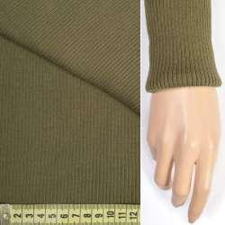 Трикотажное полотно резинка (манжет) хаки светлый ш.70 оптом