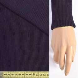 Трикотажное полотно резинка (манжет) фиолетовая темная ш.70 оптом