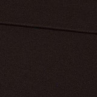 Трикотажное полотно резинка коричневое темное, ш.80 оптом