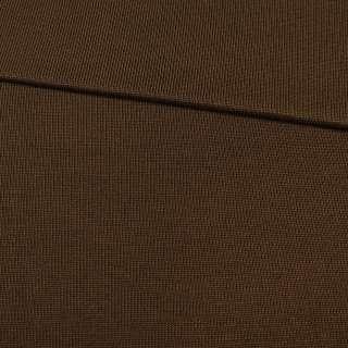 Трикотажное полотно резинка коричневое, ш.80 оптом