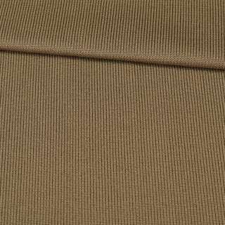 Трикотажное полотно резинка коричневое светлое, ш.80 оптом