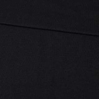 Трикотажное полотно резинка черное, ш.80 оптом