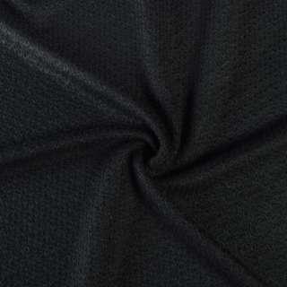 Трикотаж вязаный двухсторонний акриловый черный ш.165 оптом