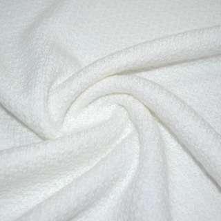 Трикотаж вязаный двухсторонний акриловый белый ш.166 оптом