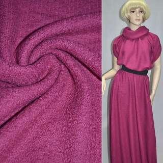 Трикотаж вязаный двухсторонний акриловый розовато лиловый ш.170 оптом