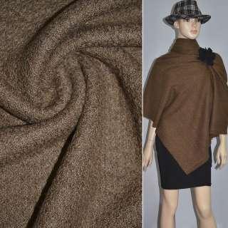 Трикотаж вязаный двухсторонний акриловый коричневый ш.170 оптом