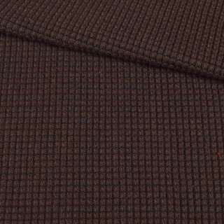 Трикотаж вязаный букле коричневый, ш.132 оптом