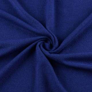 Трикотаж акриловый синий (электрик) ш.175 оптом
