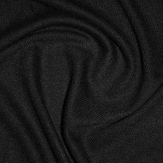 Трикотаж черный акриловый ш.170 оптом