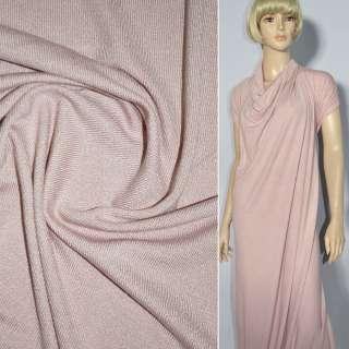Трикотаж серо розовый акриловый ш.170 оптом