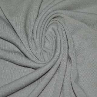 Трикотаж с вискозой стрейч серый светлый ш.170 оптом