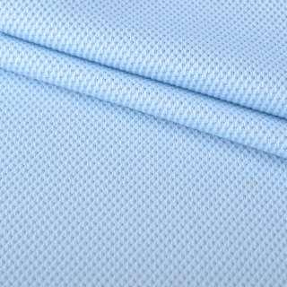 Трикотаж полотно блакитне Лакоста оптом