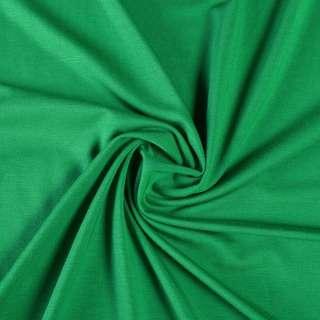 Трикотаж вискозный зеленый, ш.160 оптом