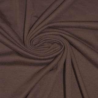 Трикотаж віскозний з еластаном коричневий ш.170 оптом