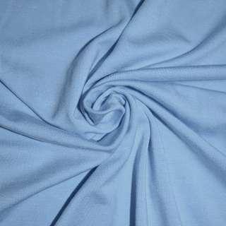 Трикотаж віскозний з еластаном блакитний ш.170 оптом