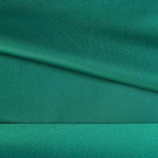 Трикотаж спорт с начесом зеленый (нефрит) ш.145 оптом
