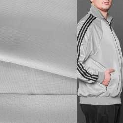 Трикотаж спорт с начесом серый светлый ш.145 оптом