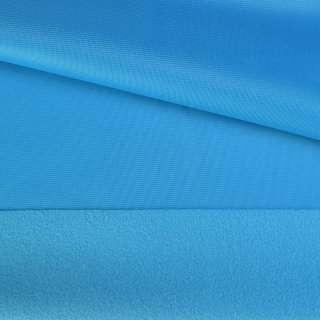 Трикотаж спорт с начесом голубой ш.150 оптом