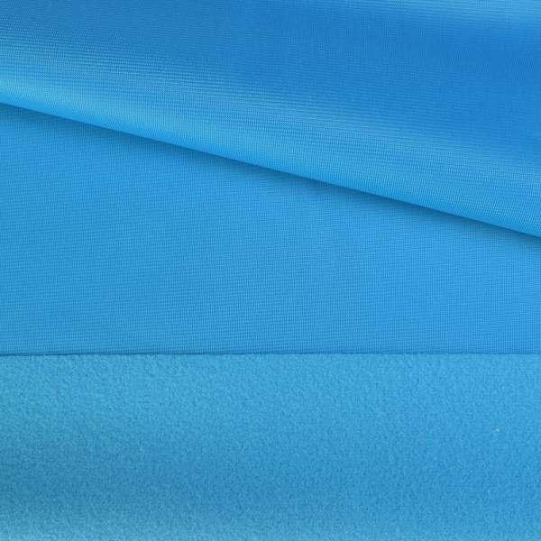 Трикотаж спорт з начосом блакитний ш.150 оптом