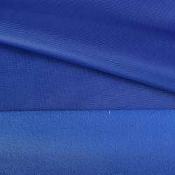 Трикотаж спорт с начесом синий яркий ш.145 оптом