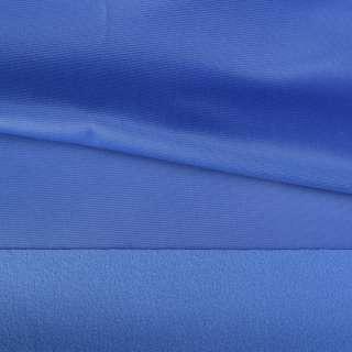 Трикотаж спорт с начесом голубой темный ш.150 оптом