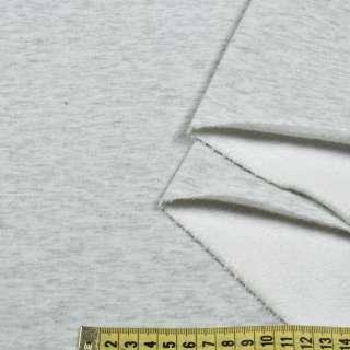 Трикотаж на велсофте серый меланж ш.180 оптом