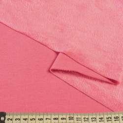 Трикотаж на велсофті рожевий, ш.180