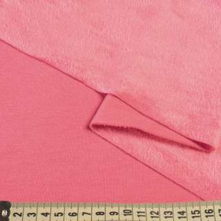 Трикотаж на велсофте розовый, ш.180 оптом
