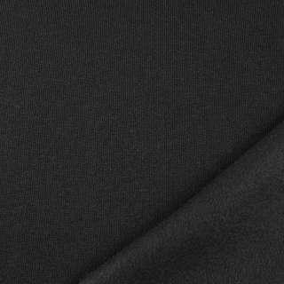 Трикотаж на флисе черный, ш.160 оптом